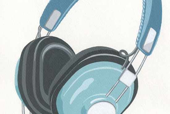 Illustration headphones