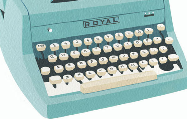 Illustration typewriter main